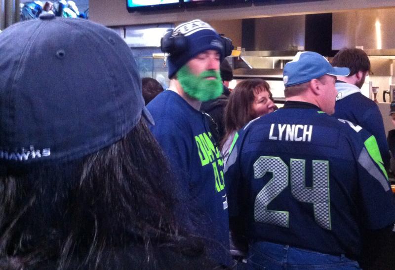 Green Beard Seattle Seahawks Fan - Vancity Buzz