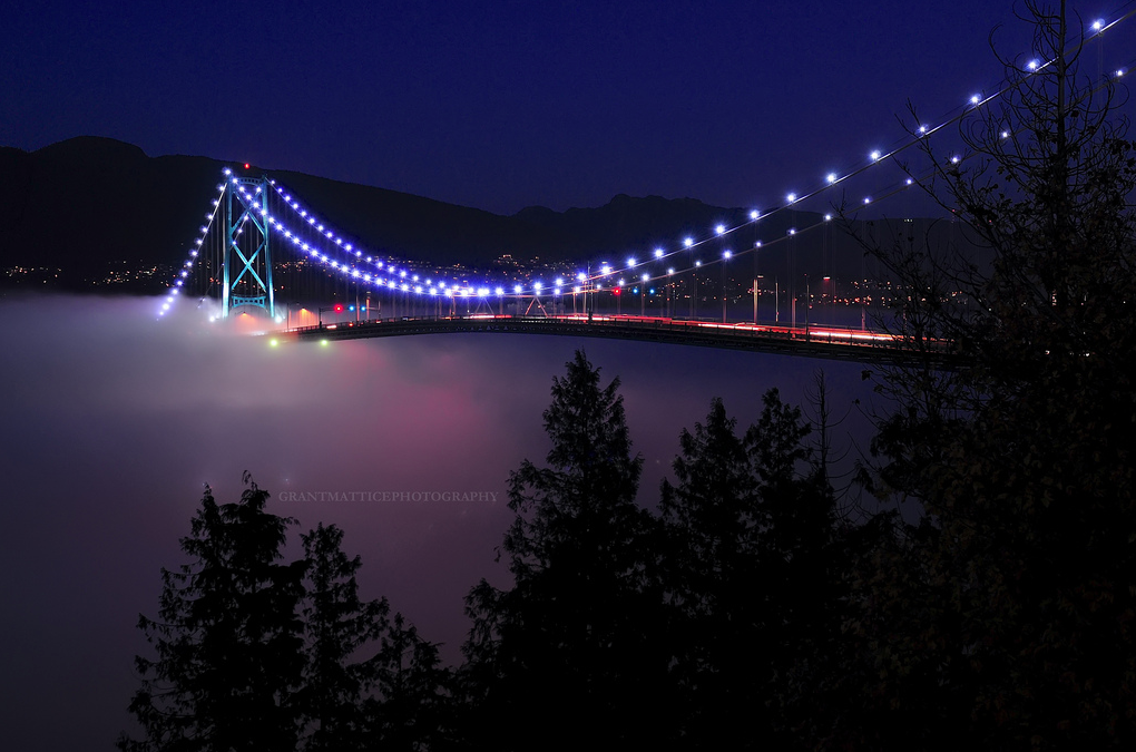 Lions Gate Bridge fog