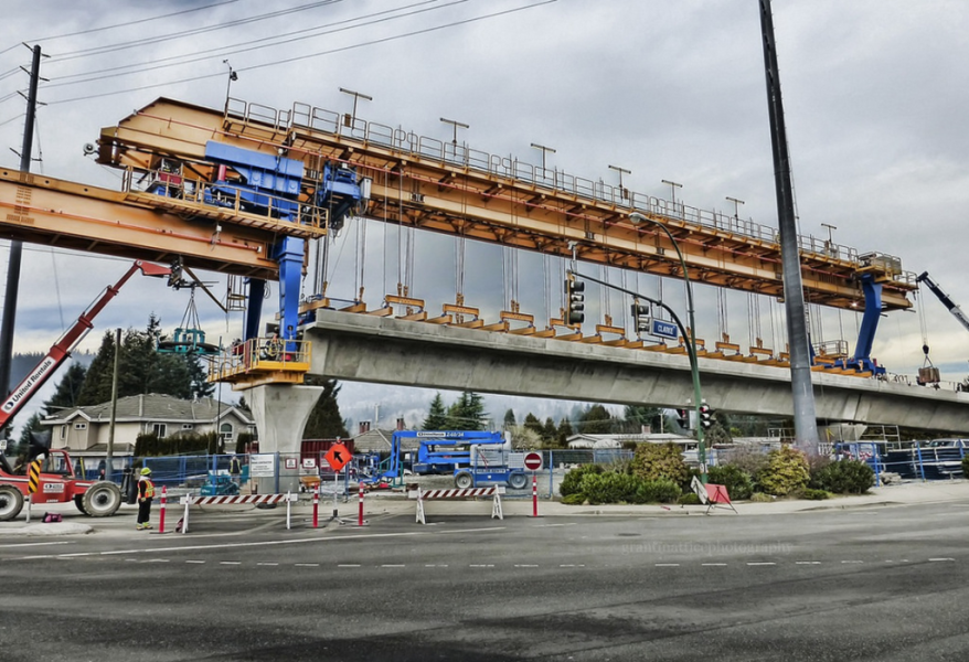 SkyTrain Evergreen Line construction