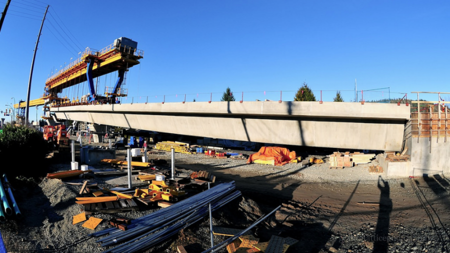 SkyTrain Evergreen Line construction
