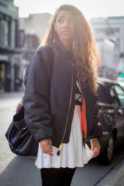 Bomber jacket, Vancouver street style