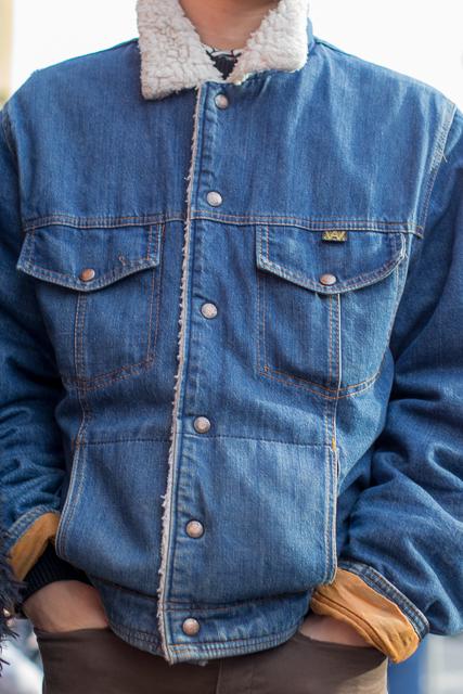Jean jacket, Victoria street style