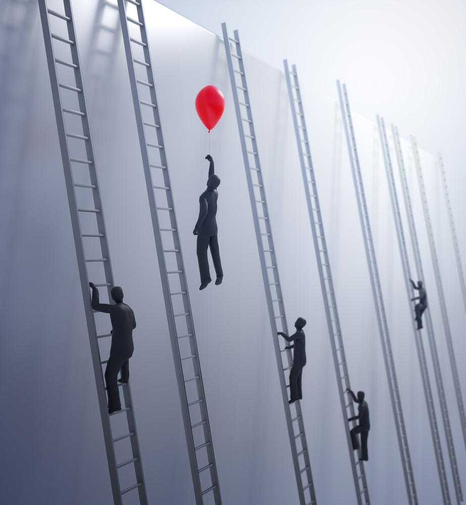Ladder climbing / Shutterstock