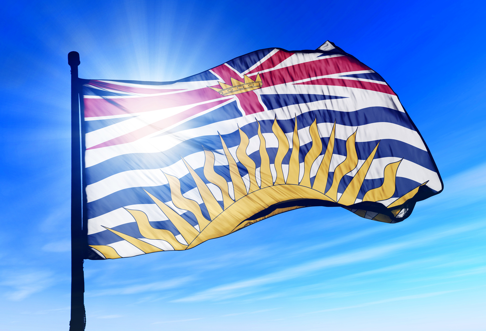 BC flag pride British Columbia flag / Shutterstock