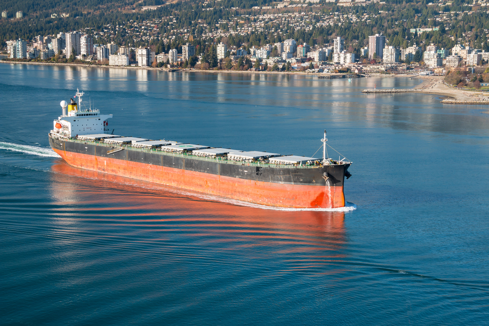 Vancouver cargo vessel freight ship economy business port / Shutterstock