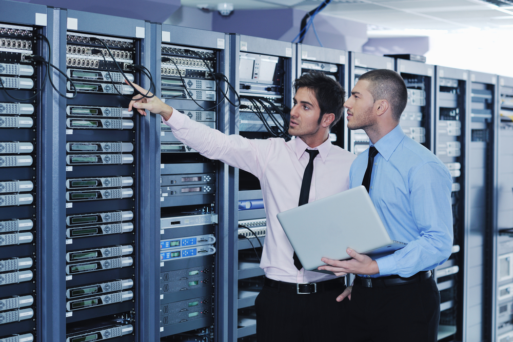 Server room tech via Shutterstock