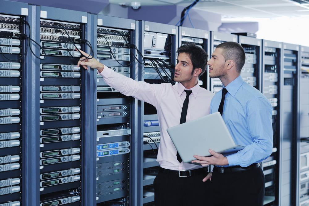 Server room tech via Shutterstock