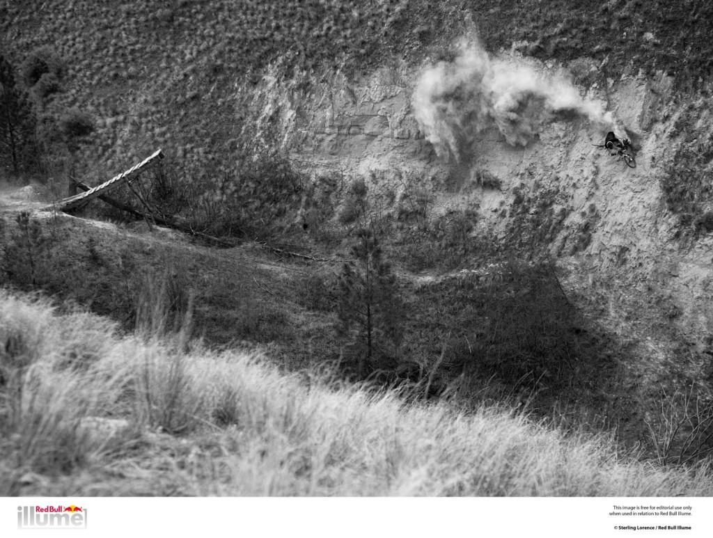 matt hunter does a 45 foot gap step up to wall ride in kamloops, bc, canada