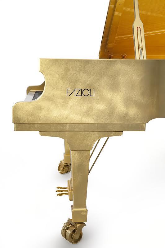 Paolo Fazioli Piano 24k Gold Leaf