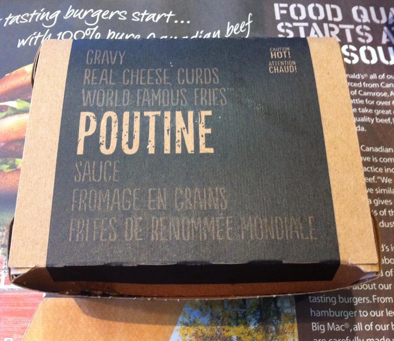 Vancity Buzz McDonald's Poutine box