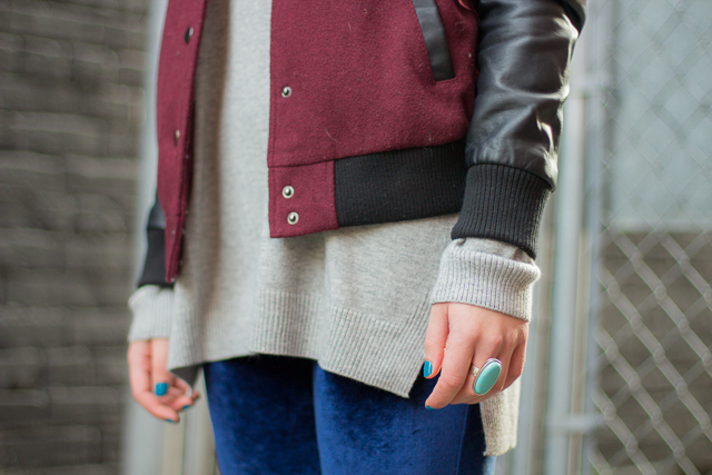 Varsity jacket, Vancouver street style