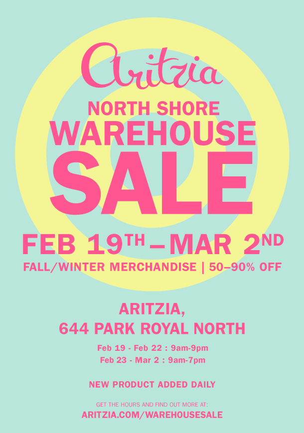 Aritzia Warehouse Sale 1
