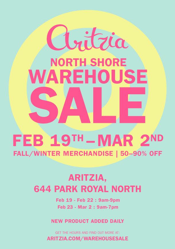 Aritzia Warehouse Sale 1