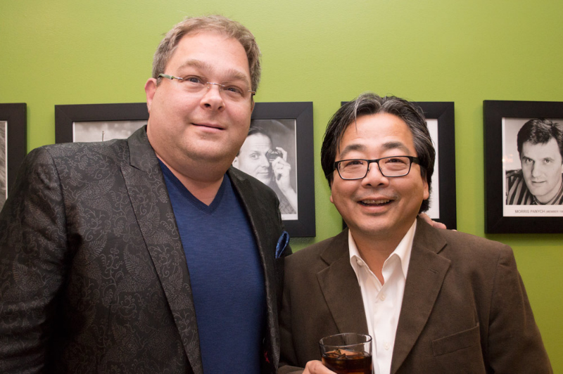 Event co-host Howard Blank with VTSL's Executive Director Jay Ono.