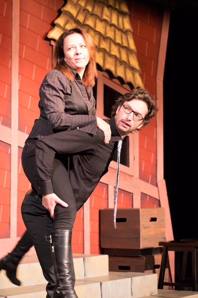 VTSL cast members Denise Jones and David Milchard.