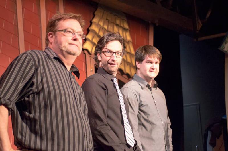 VTSL cast members Pearce Visser, David Milchard and Nathan Clark.