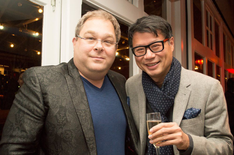 Event hosts Howard Blank and Fred Lee.