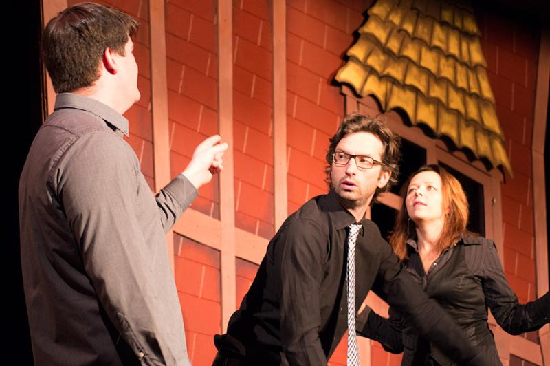 VTSL cast members Nathan Clark, David Milchard and Denise Jones.