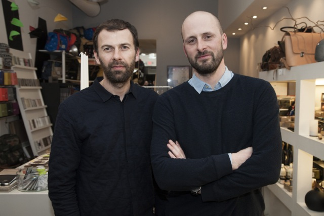 Komono's Anton Janssens and Raf Maes celebrate the brand's Canadian launch at Walrus.