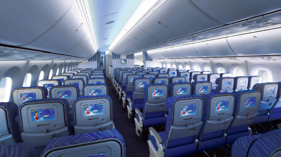 Daily boeing 787 dreamliner service begins at vancouver for Avion jetairfly interieur