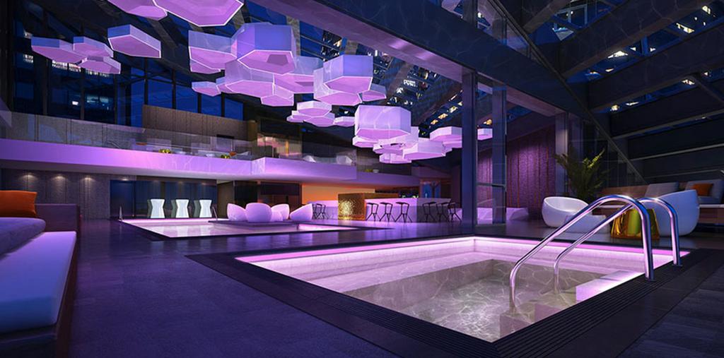 Trump Tower Vancouver pool bar nightclub