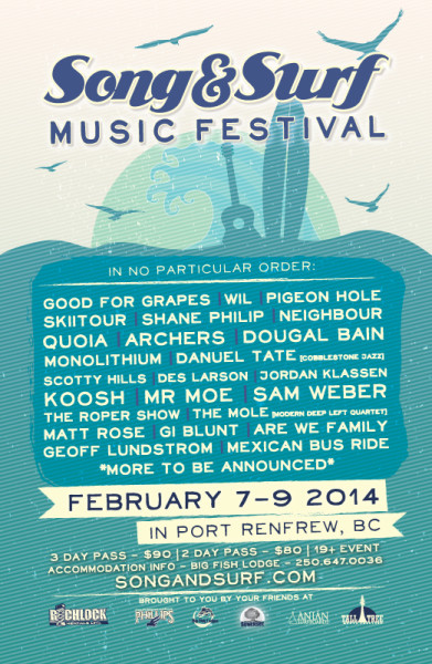 Song and Surf Music Festival Lineup