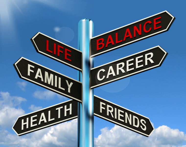 Balanced life career family change friends / Shutterstock