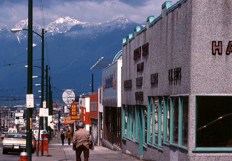 vancouver 1978 - main street looking north
