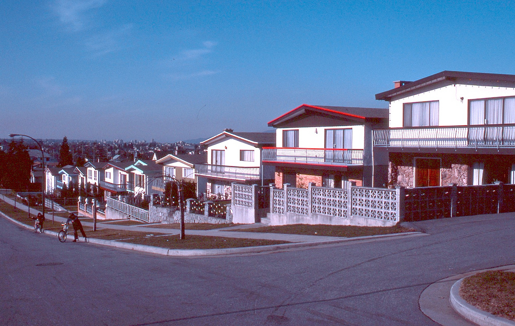 vancouver 1978 - row of vancouver specials