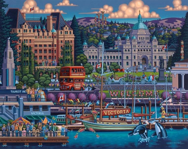 10 Canadian Cities Beautifully Illustrated As Folk Art
