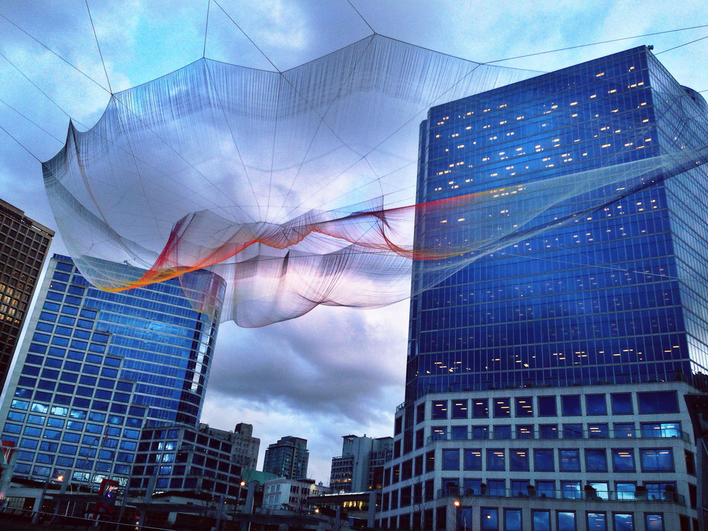 Skies Painted With Unnumbered Sparks TED Janet Echelman