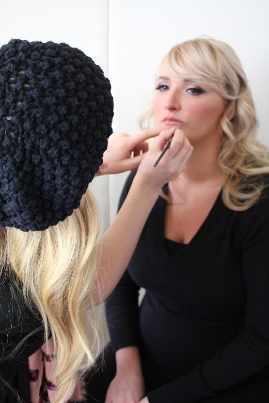 Brianna Doing Makeup