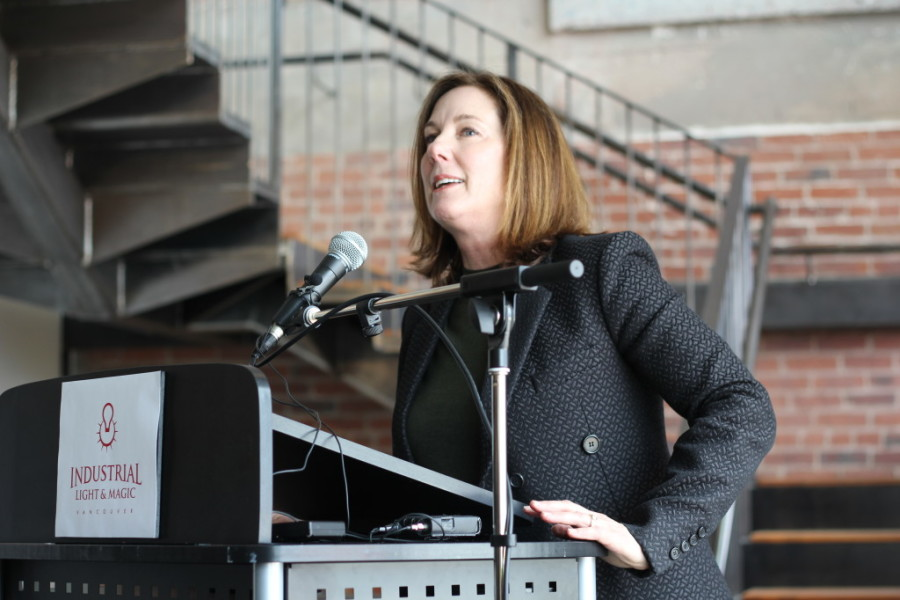 Kathleen Kennedy unveiling new Gastown satellite office