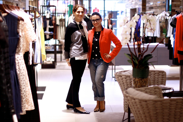 Catherine Guadagnuolo and Mana Mansour at the new Max Mara flagship on South Granville. Photo by Viranlly Liemena.