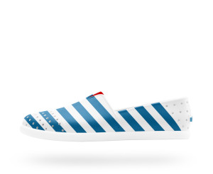 Native - Verona (Shell White Galaxy Blue Stripes) - $75