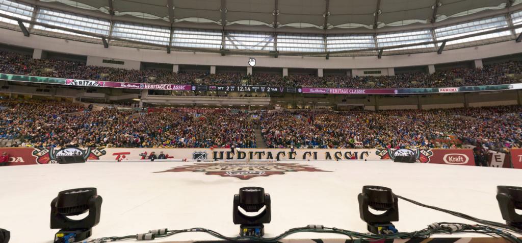 BC Place Heritage Game Gigapixel Panorama Vancouver Canucks Ottawa Senators