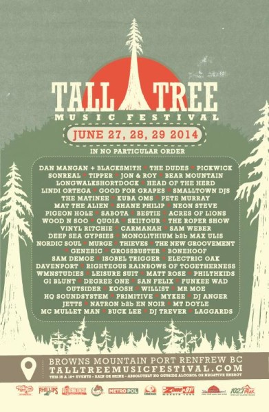 Tall Tree Music Festival Poster