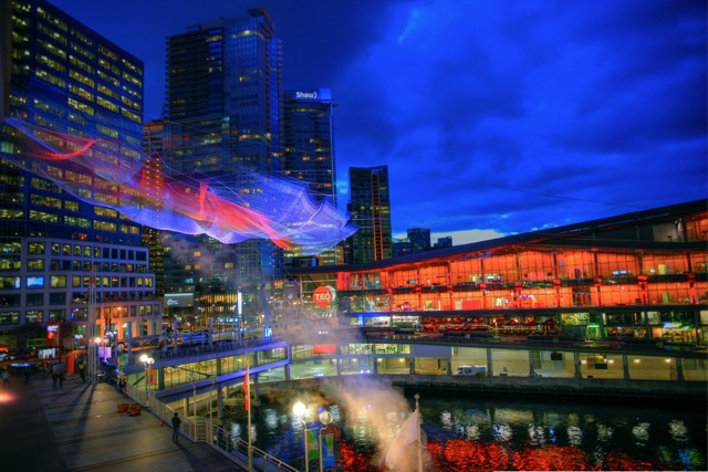 Skies Painted With Unnumbered Sparks TED Janet Echelman Vancouver