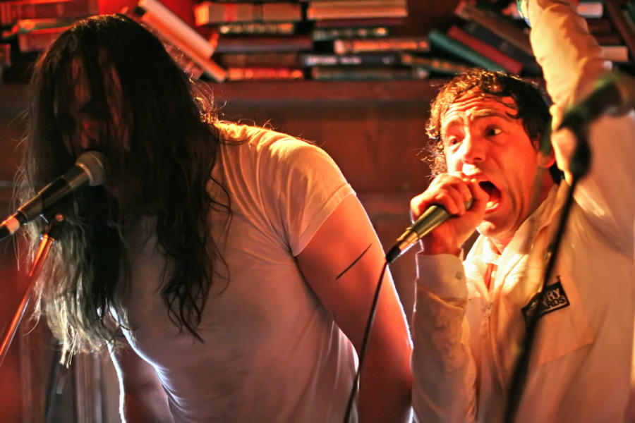 Andrew W.K. and Nardwuar at the Ship n Anchor - Sled Island 2012 - Obeezyphoto