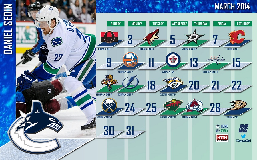 HTTN Canucks March Wallpaper