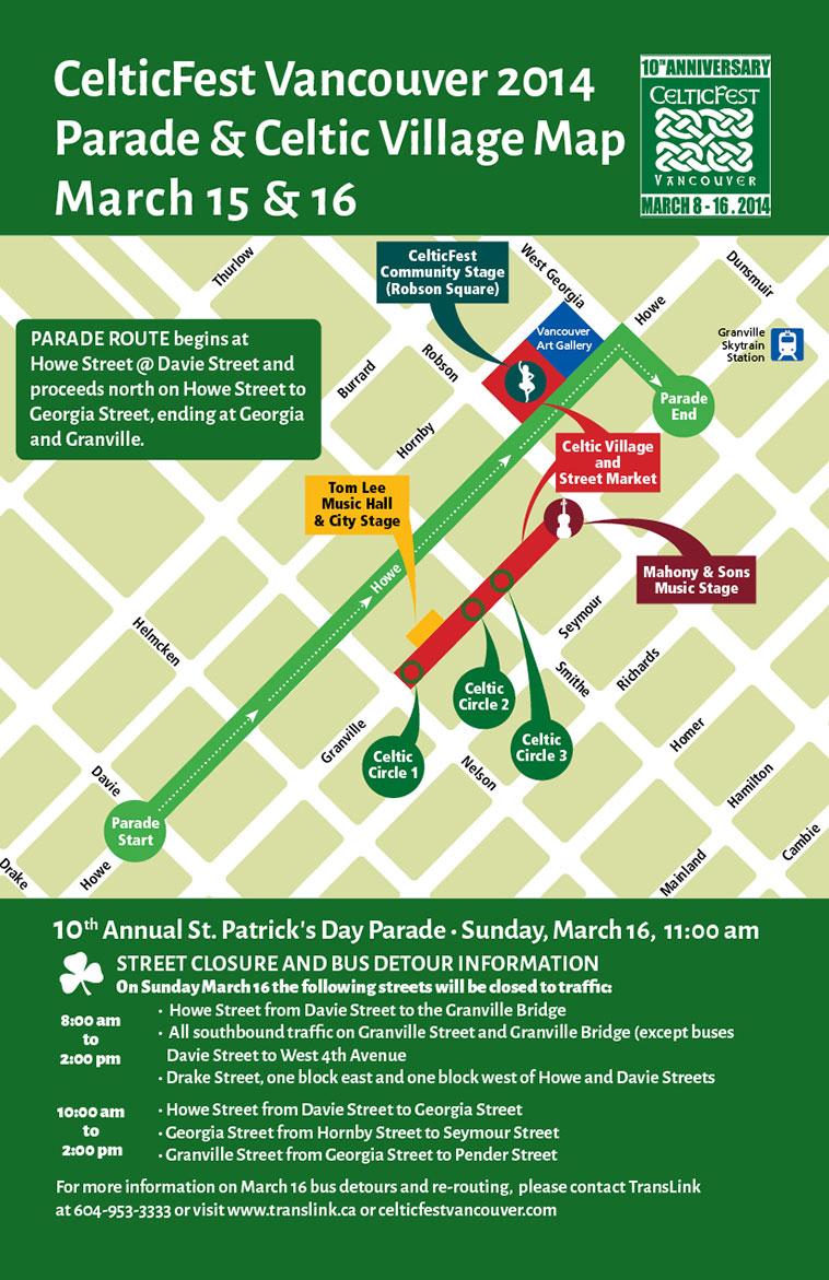 celticfest st patricks day parade-map-2014