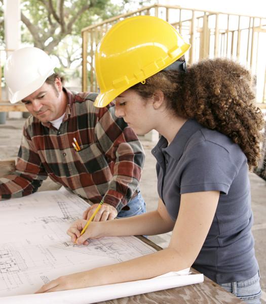 Female engineer worker construction / Shutterstock