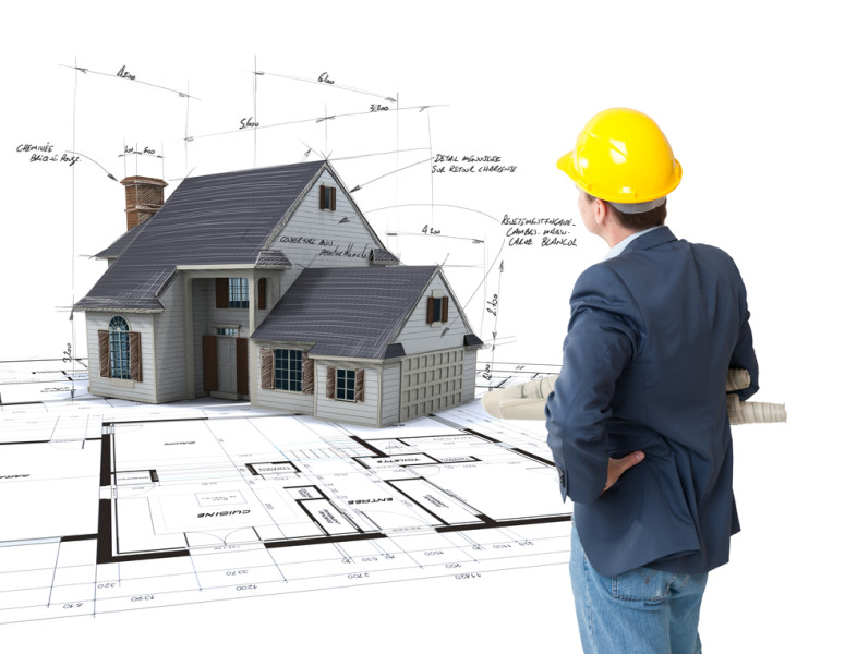 House mock-up blueprints / Shutterstock