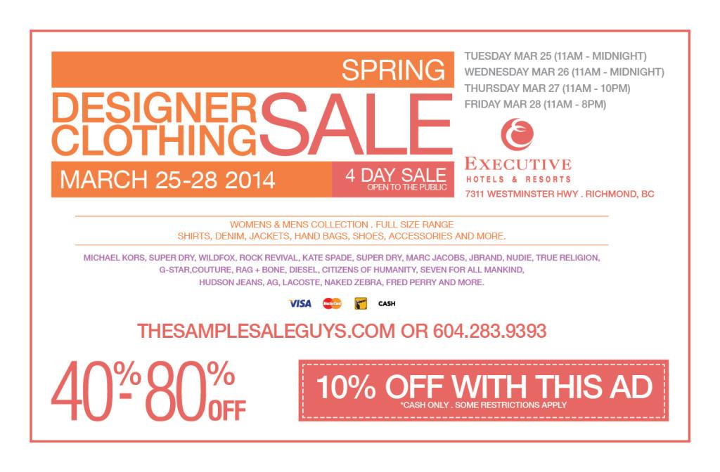 sample sale spring