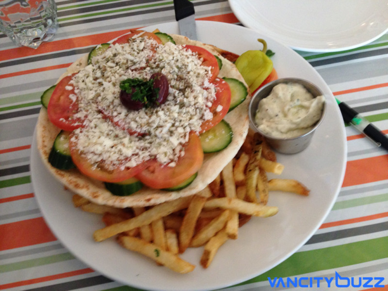 The Veggie Pita at Stepho's Souvlaki Greek Taverna