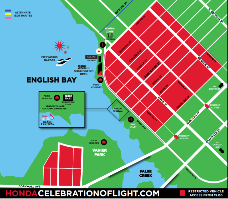 Celebration of Light Map