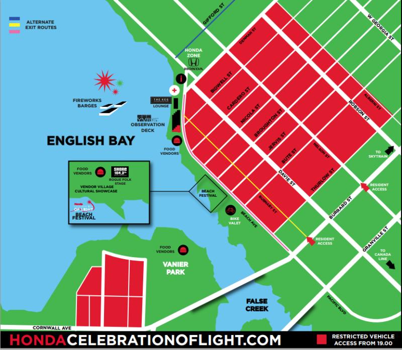 Celebration of Light Map