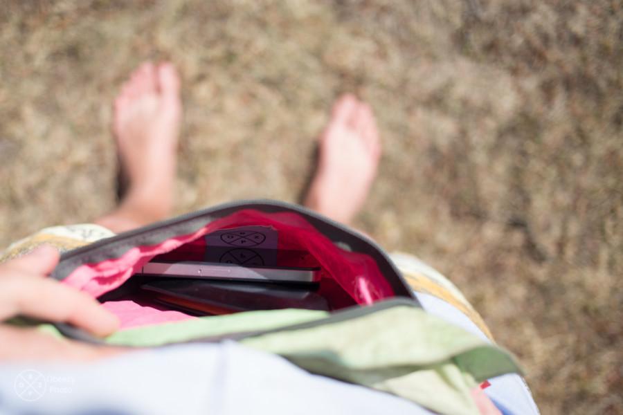 Fanny pack decoy at Coachella Music Festival
