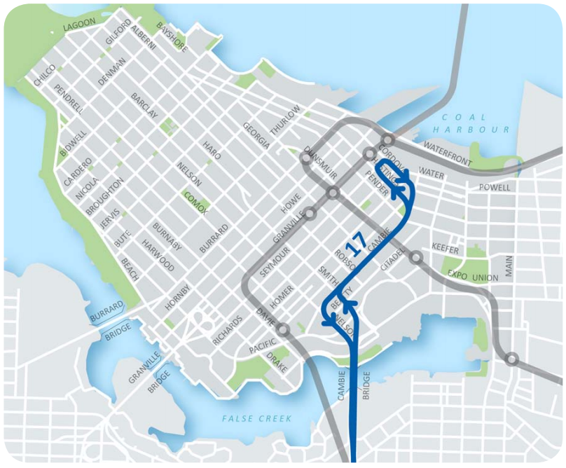 Downtown Vancouver Bus Reroute