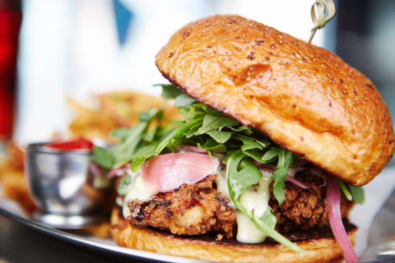 Bismarck's Crunchy Chicken Sandwich.